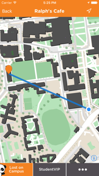 Lost on Campus Mobile App with Map